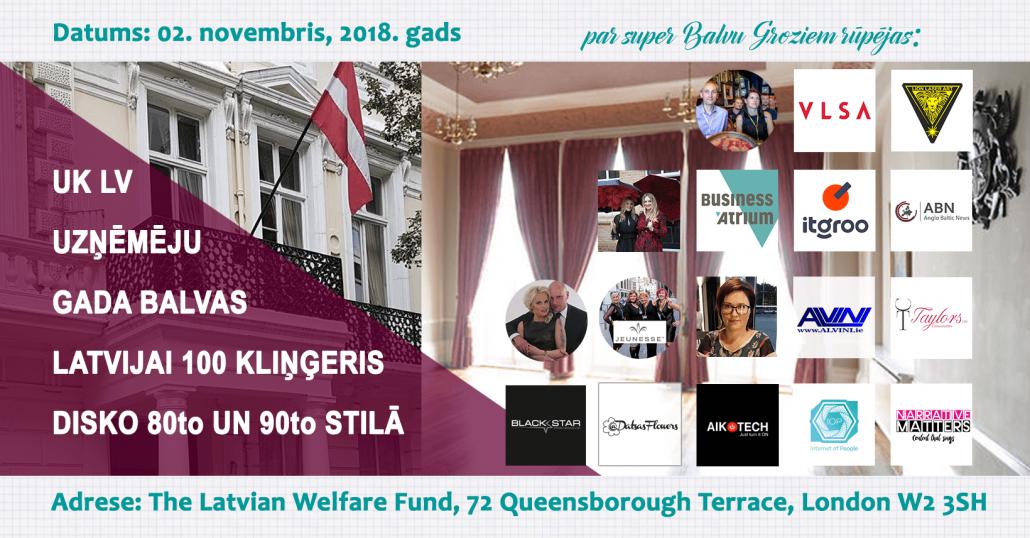 Ceturtais UK Latviešu Uzņēmēju gada balvas, semināri un balle Londonā!