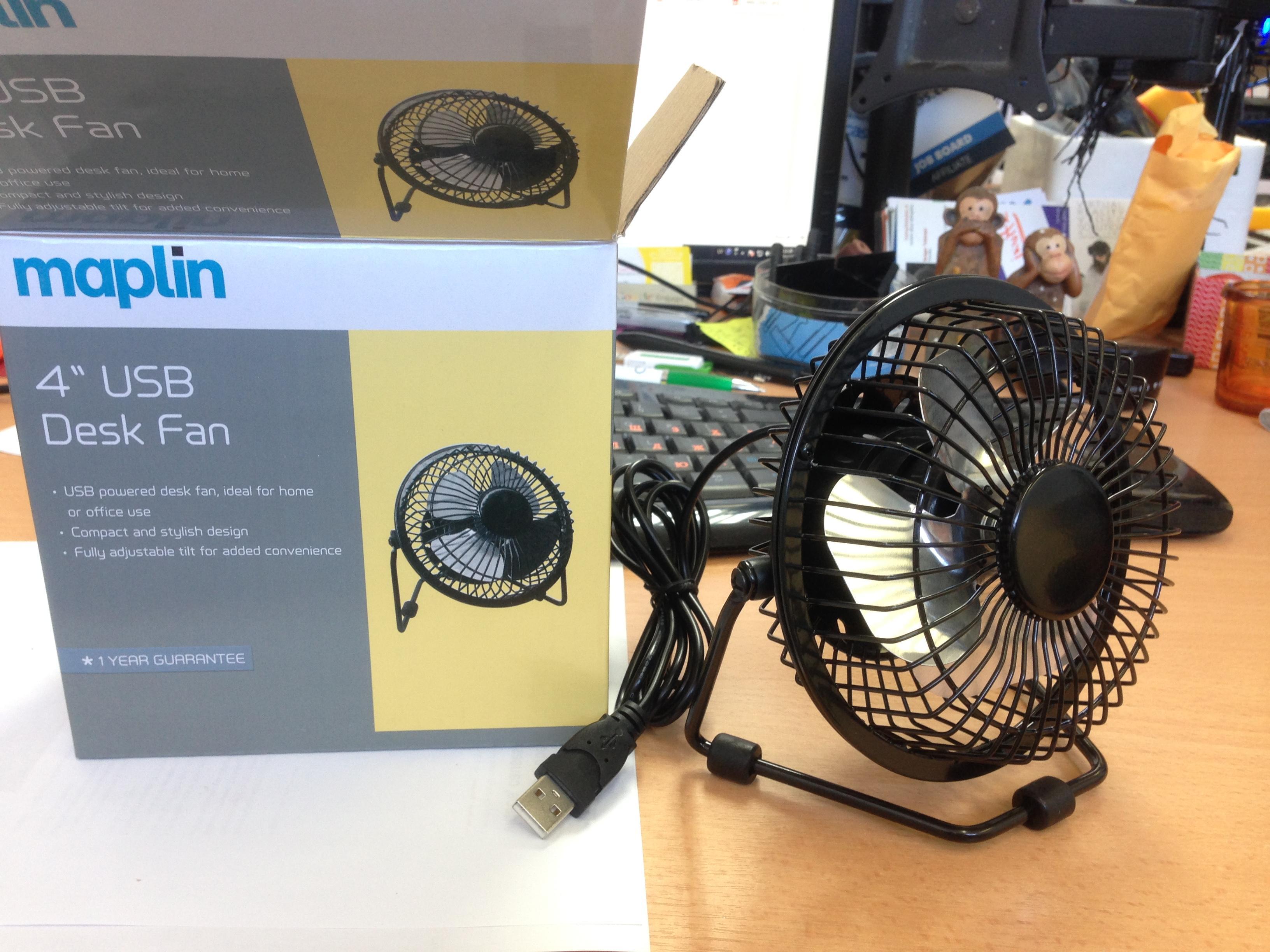 4' usb ventilators