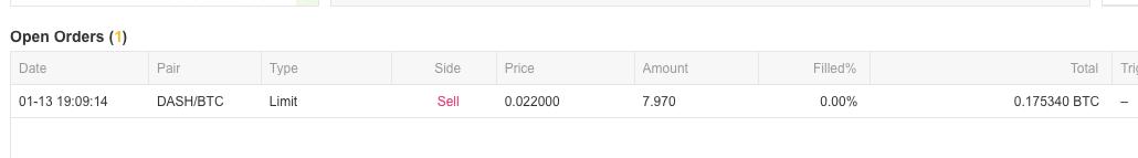 nākošais oreris uzlikts uz cenas 0.022 Dash/BTC